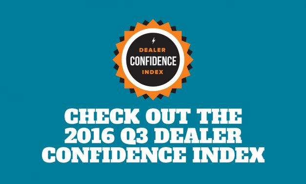 Check Out The Q3 2016 Dealer Confidence Index